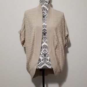 Lane Bryant Tan Knitted Plus Size Cardigan Sweater